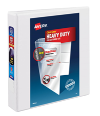 "Avery Binder Heavy Duty One Touch Ring View 1.5"" White"