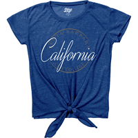 BLUE 84 CAMILA TIE FRONT TEE
