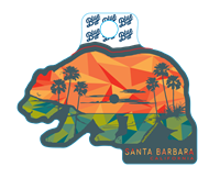 Blue 84 Sticker Bear Palms