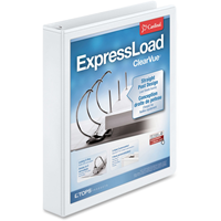 Cardinal Express Load Clear Vue D-Ring 1 1/2  White