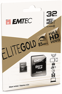 Emtec Gold 32Gb Micro Sd Class 10 With Adapter