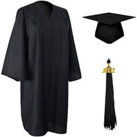 KEEPER CAP AND GOWN SET WITH TASSEL- Please add height and t-shirt size in comments at checkout.