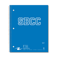 Roaring Springs Notebook 1 Subject/ Pocket Sbcc