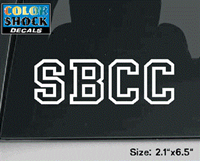 Sbcc Block Letter Decal