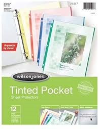 Sheet Protector Tinted 12Pk