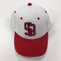 The Game Curved White/Red Adj. Sb Cap